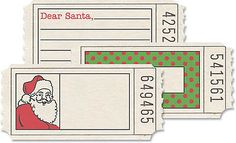 JBS (18) Printed Tickets-CHRISTMAS scrapbooking (3) DESIGNS Altered Art Ephemera