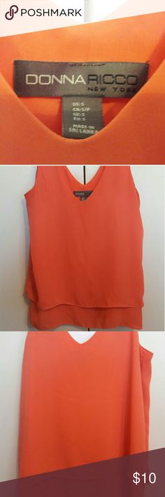 Women's blouse Coral, sleeveless blouse Donna Ricco Tops Blouses