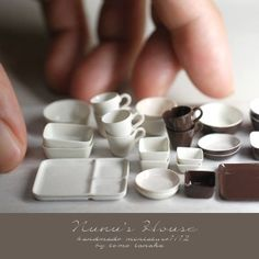 Micro-Replicas of Food and Household Items Made From Clay by Tomo Tanaka