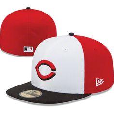 b6bb0fffeed Cincinnati Reds MLB New Era 59FIFTY Fitted Hat  reds  cincinnati  mlb  Twenty One