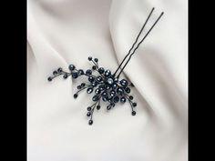 """Bridal Hair Pin Видео Мастер Класс """"Шпилька для Новогодних праздников"""" - YouTube"""