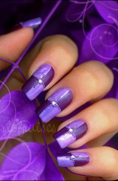 Gorgeous nail. | Pinned from Board: http://www.pinterest.com/tctweety26/purple/ Dorothy Johnson