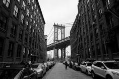 Manhattan Bridge - A shot of the Manhattan Bridge in DUMBO
