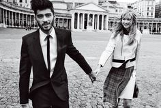 "Zayn Malik & Gigi Hadid in ""Weekend In Naples"" for Vogue US, May 2016 Photographed by Mario Testino"
