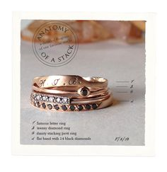 Catbird NYC stacking rings