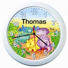 Personalized dino clock$15 for konners dino room