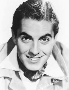 Tyrone Power Tyrone Power, Power Star, Brown Bodies, Most Handsome Men, Classic Movies, Famous Faces, American Actors, Old Hollywood, Movie Stars