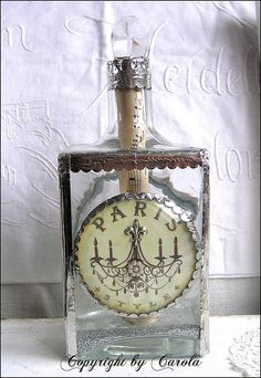 altered bottles | Altered Bottle ~ Paris Inspired | Flickr - Photo Sharing!