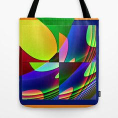 serie qbist # 1 Tote Bag by Mittelbach Marenco Florencia - $22.00