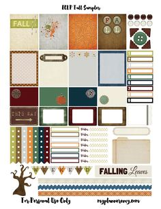 Free Printable Fall Sampler for the Erin Condren Life Planner