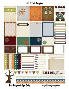 Free Printable Fall Sampler for the Erin Condren Life Planner