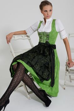 Tights. Green dirndl by Gottseidank, 2011