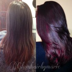 Mahogany and red highlights By: Glamhairbymarie