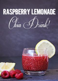 How to Make a Healthy Raspberry Lemonade Chia Drink