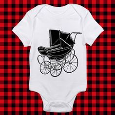 Spooky Old Pram Baby Carriage Vintage Art by WinkinBitsy on Etsy