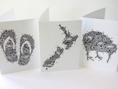 Shop for cards on Etsy, the place to express your creativity through the buying and selling of handmade and vintage goods. New Zealand Art, Crafts With Pictures, Kiwiana, Creative Gifts, Beautiful Hands, Home Crafts, How To Draw Hands, Gift Cards, Floral
