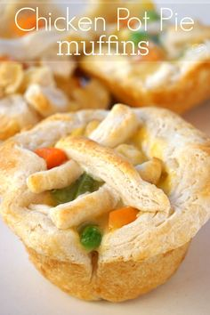 You've got to try these chicken pot pie muffins baked in a muffin tin! SO easy and our kids favorite meal.