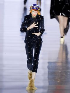 Floral-embroidered velvet trousers | Maison Margiela | MATCHESFASHION.COM