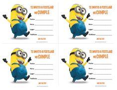 Invitaciones de Minions para Imprimir Gratis