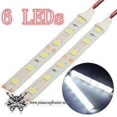 2X Tiras de Luz LED Sumergibles Para Modificaciones Moto CafeRacer Scrambler Bobber Color Luz Blanca - 9,64€ - ENVÍO GRATUITO EN TODOS LOS PEDIDOS