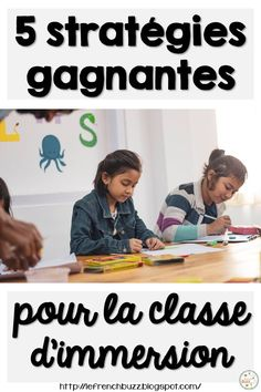 5 stratégies pour aider les enseignants d'immersion - French winning strategies in the French Immersion classroom #learningfrench #frenchimmersion French Teaching Resources, Teaching French, Teaching Spanish, Teacher Resources, Bilingual Classroom, Bilingual Education, Language Study, French Language, French Lessons