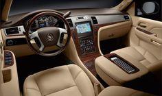Cadillac Escalade Interior...my dream mommy car.