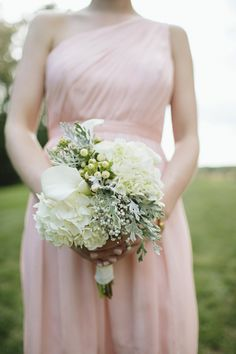 Green and White Bridesmaid Bouquet   Brooke Courtney   TheKnot.com