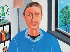 Jane Tarlow, Portrait of Gary, 2010, acrylic on canvas from Gateway Arts