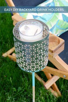 DIY Backyard Drink Holders                                                                                                                                                                                 More