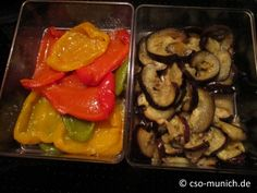 #Rezept: #Antipasti selber machen - Eingelegte Paprika und Aubergine