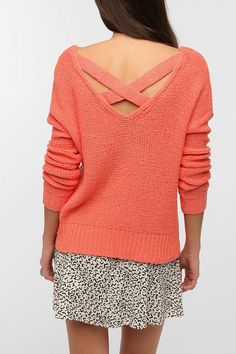 Sparkle & Fade Strappy Cross-Back Sweater  urban outfitters