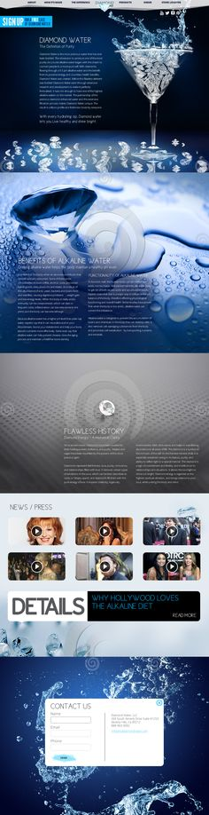 Diamond Water 2013 web design trend