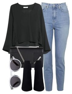 """Untitled #5376"" by laurenmboot ❤ liked on Polyvore featuring Topshop, MANGO, Yves Saint Laurent and Illesteva"