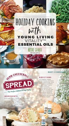 Herb cheese balls make awesome appetizers! We love adding a few drops of marjoram, sage, and black pepper essential oils too! Holiday Appetizers, Best Appetizers, Holiday Recipes, Brownie Ingredients, Baking Ingredients, Cooking Hard Boiled Eggs, Cooking With Essential Oils, Cheese Ball Recipes, Cooking Turkey