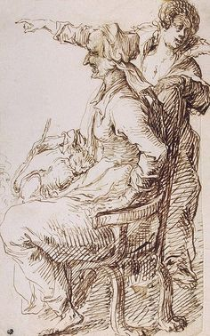 Author: II Jacob de Gheyn Drawings, Pen and brush and brown wash, 24.4x15.3 cm Origin: Holland, Between 1600 and 1610 Style: Mannerism Source of entry: Collection of the Academy of Arts, Petrograd, 1924