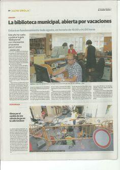 Prentsa oharra libuurutegian: abuztuan irekita|Nota de prensa de la biblioteca: abierto por vacaciones (2012)