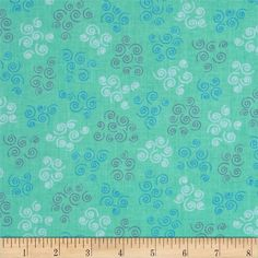 Cozumel Scroll Aqua from @fabricdotcom  Designed by Studio 8 for Quilting Treasures, this cotton print fabric is perfect for quilting, apparel and home decor accents. Colors include blue, grey, aqua and white.