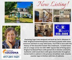 Missouri Real Estate, Cape Designs, Breakfast Nook, Wood Doors, Door Knobs, Kitchen And Bath, Glass Door, Beautiful Homes, Hardwood Floors