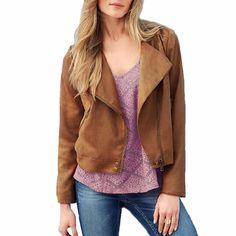 Women Fashion Khaki Zip-Front Notched Lape Jacket, 32% discount @ PatPat Mom Baby Shopping App