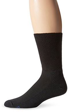 PEDS Womens Diabetic Extra Wide NonBinding Ribbed Top Crew Socks 1 Pair Black 1013 ** You can get additional details at the image link.Note:It is affiliate link to Amazon. #likesforlike