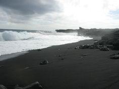 Black sand beach near Hilo, HI. Someday I'd like to visit one of these, too.