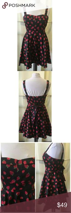 NWT Ixia strawberry print pinup dress size s small New with tag attached Ixia Modcloth strawberry print pinup dress size small. Super cute! Has molded bust, so wearing a bra is not necessary. Has never been worn. Will consider reasonable offers via the offer tab, thank you! ModCloth Dresses Mini