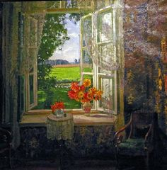 Summer Window (Stanislav Zhukovsky)