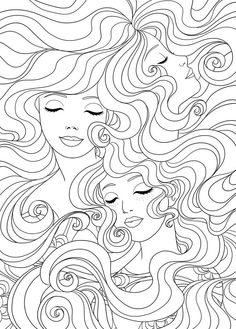 Beautiful Hair Coloring Books