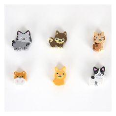 Des gommes en forme de chatons mignons ! 2.30 € les 6 http://www.mylittleday.fr/s/28015_216902_gommes-animaux-papeterie?part=News150910Papier