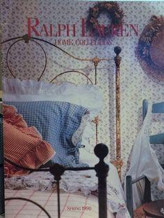Very Rare Ralph Lauren Home Collection Catalog Spring 1990