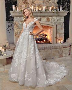 Style 2437 Nicolette | Floral Lace Ballgown by Casablanca Bridal | Casablanca Bridal Wedding Dress Pictures, Wedding Dress Styles, Boho Wedding Dress, Designer Wedding Dresses, Wedding Gowns, Modest Wedding, Bridal Dresses, Blush Bridal, White Bridal