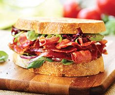 Ultimate Bacon Sandwich with Marinated Tomatoes and Onions