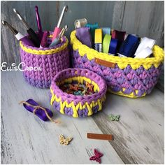 A wonderful storage baskets set for small things 💜
