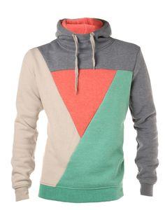 Color-block hoodie